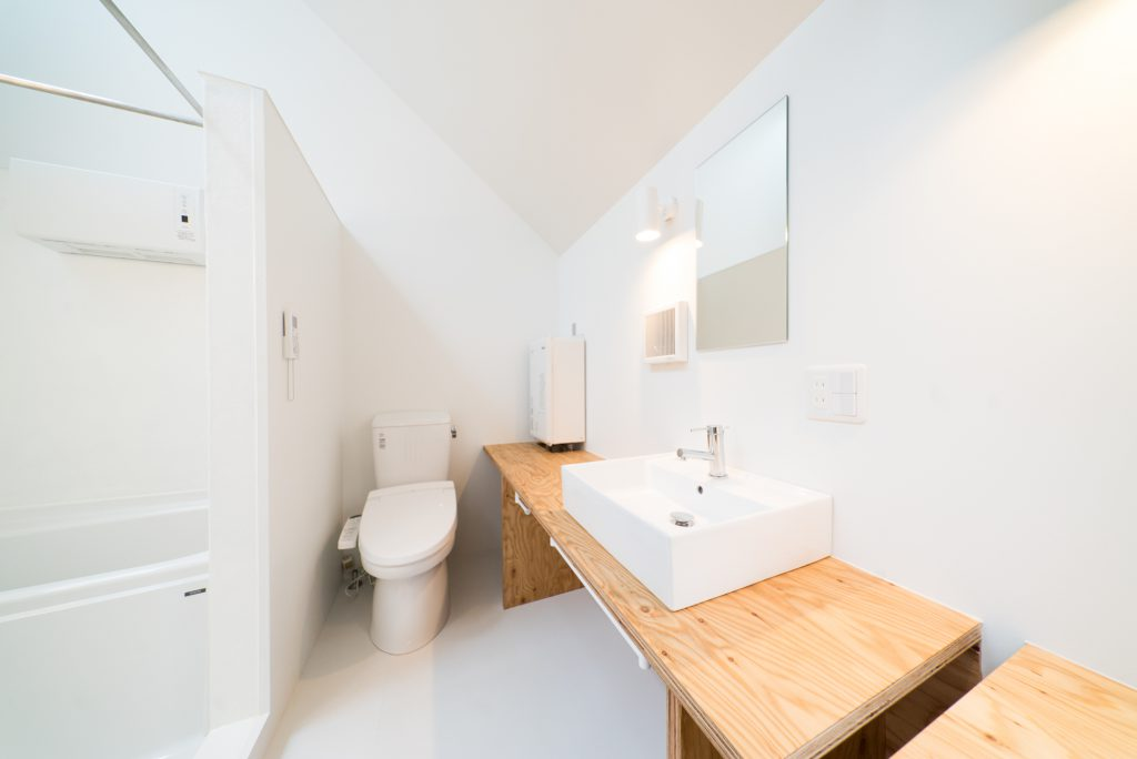 広い洗面+トイレ。