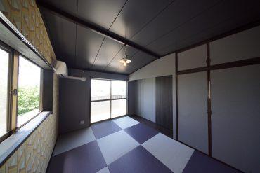 1Fの琉球畳の和室は客間にしたり。収納もあります。
