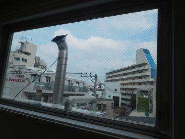 ロフトの向かいが大きな窓