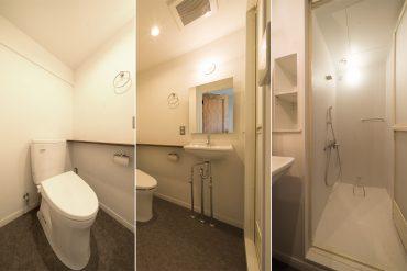 トイレ・洗面・シャワーユニット。