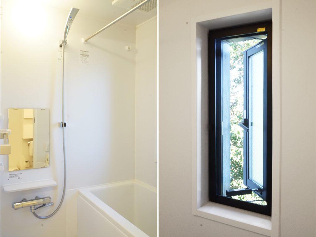 小窓からさわやかな風が入るお風呂。
