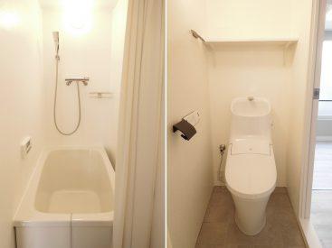 お風呂トイレは同室ですが、ゆとりのあるつくりでいやな感じがしません