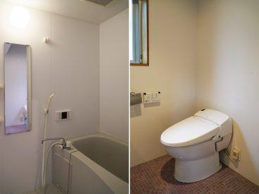 お風呂・トイレは、清潔感があります。