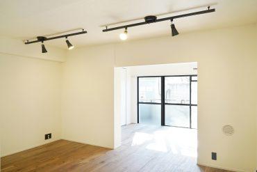 玄関先から水まわり、LDK、洋室を縦長のつくりのお部屋。