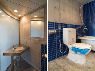 洗面とトイレ、バスルームは同室になります。