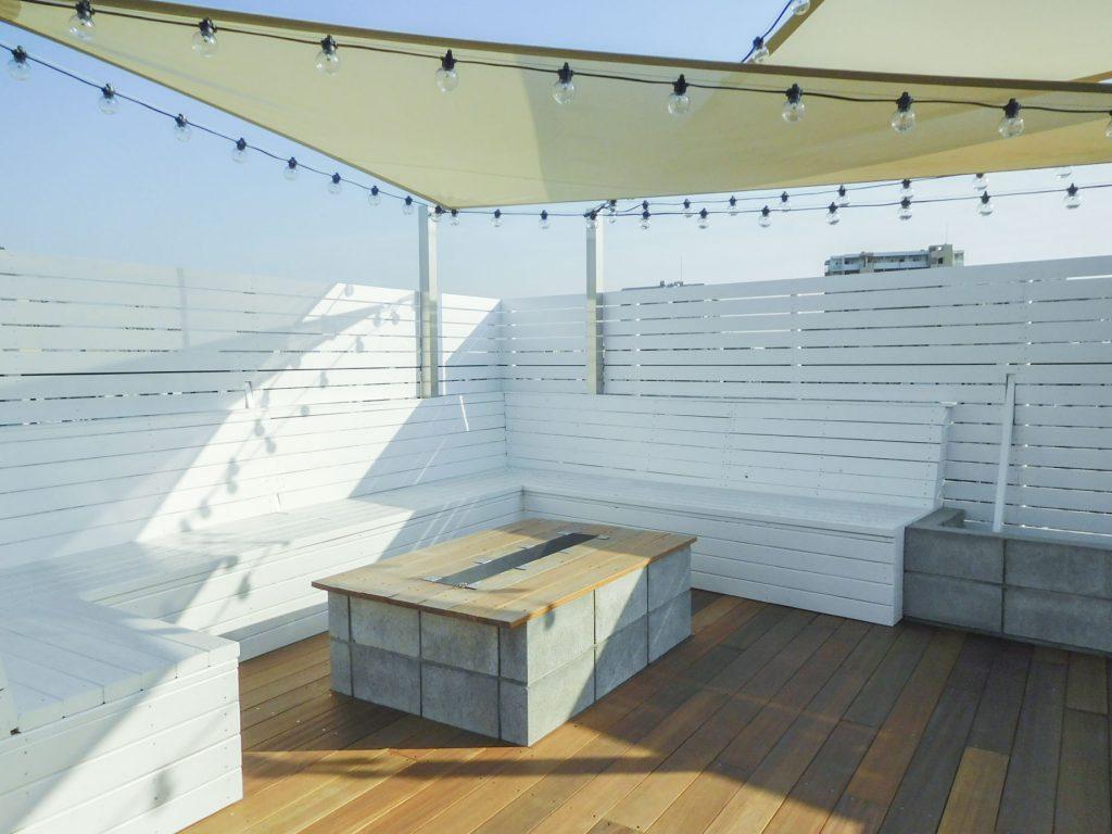 屋上の共有スペース