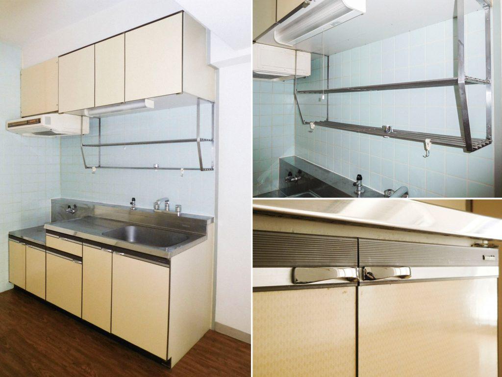 扉の柄がレトロでかわいい、結局キッチンはこのタイプが使いやすい(キッチン)