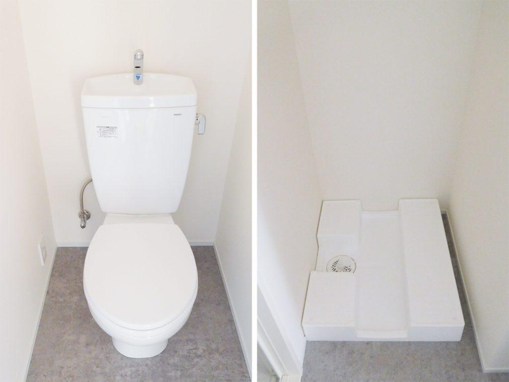トイレと室内洗濯機置き場。