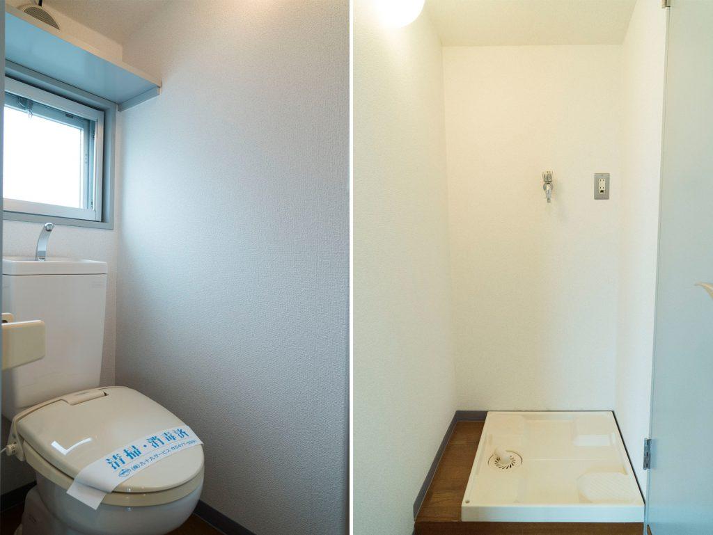 室内に洗濯機置き場があります(内装)