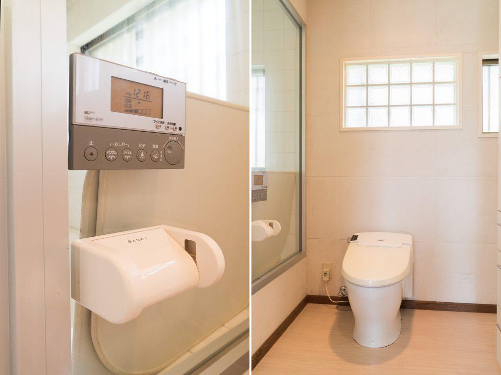 トイレは扉なし。開放的です。