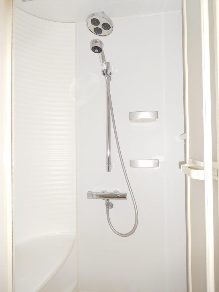 とても立派なシャワーヘッドが付いています