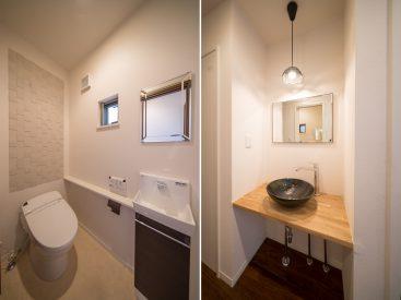 トイレは1階と2階にあり、どちらもゆとりと清潔感があります。