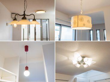 お部屋それぞれの照明が、個性豊かです。