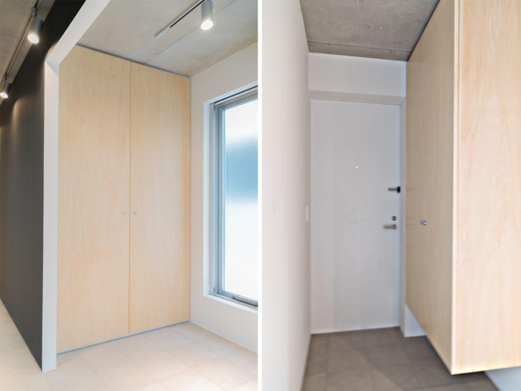 お部屋には大きめの収納、玄関横にはたぷっりとしたシューズボックスが完備。
