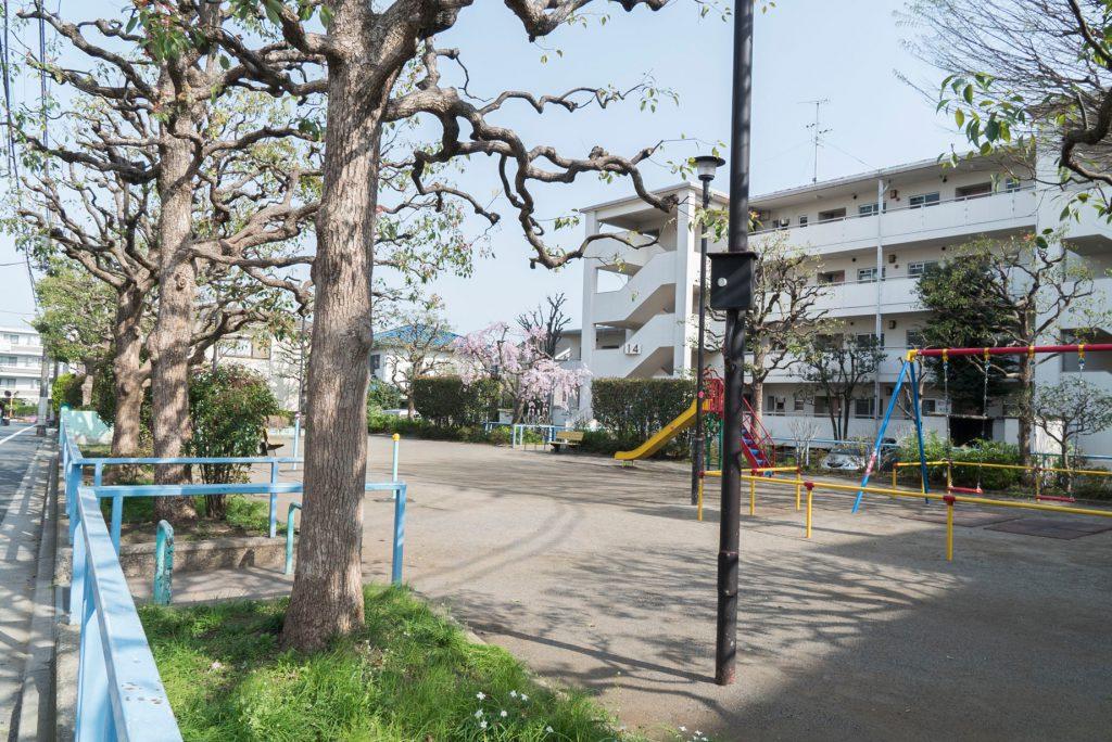 近隣の公園。駅近ですが、周辺はとても静かな住宅街。