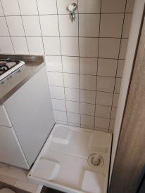 玄関先にある洗濯機置き場