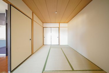 洋室から和室を見るとこんな感じ。