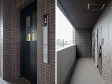 エレベーターと共用部。
