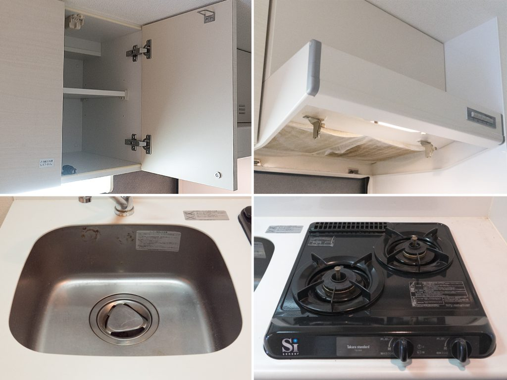 コンパクトですがキッチンの設備は過不足ありません。