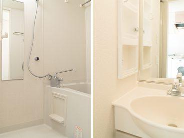 バスルームと洗面スペース。