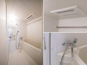 浴室乾燥機のついたお風呂。湯加減は自動タイプ。
