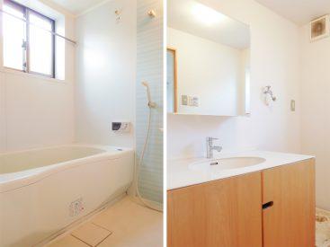 バスルームにも脱衣所にも窓が付いていて通気に優れています。