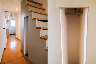 階段脇にも小さな収納スペース(内装)
