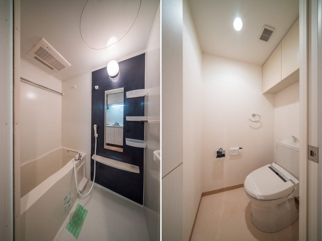 お風呂、トイレはとってもきれい。