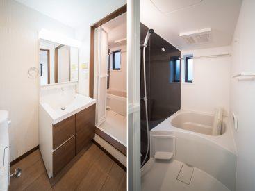 もちろん、ぴかぴかの洗面台とお風呂。