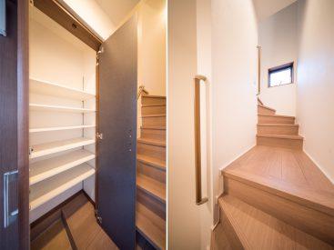 たっぷり入るシューズボックスあり。人間には階段つらいけど、ねこさんは登り降りすきだもんね…がまん。