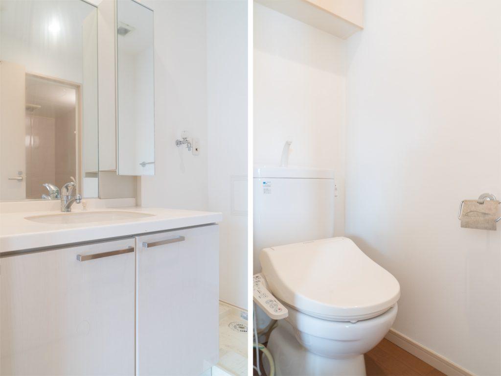 洗面所とトイレ。
