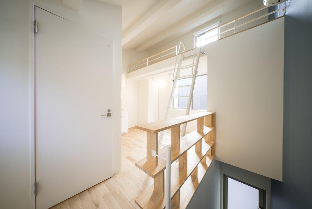 ロフトがあることで天井が高くて気持ちいい。