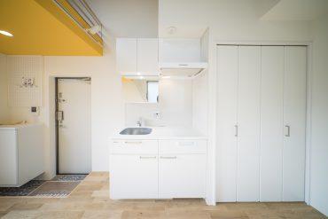 ホワイトで統一されたキッチン。