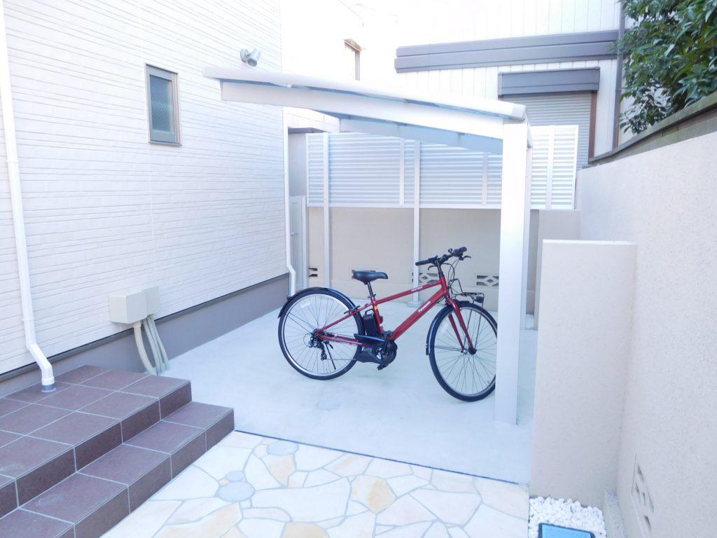 自転車置き場もしっかり確保