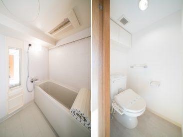 お風呂とトイレはもちろんセパレート。追い焚き機能とウォシュレットもある!