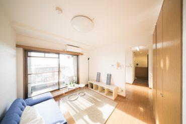 マンション8階、1Kの一室。
