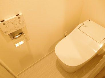 タンクレスで広々なお手洗い。