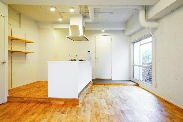キッチンを中心とした一部屋