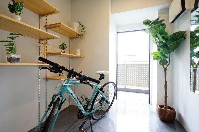 自転車を置いてもこの広さ