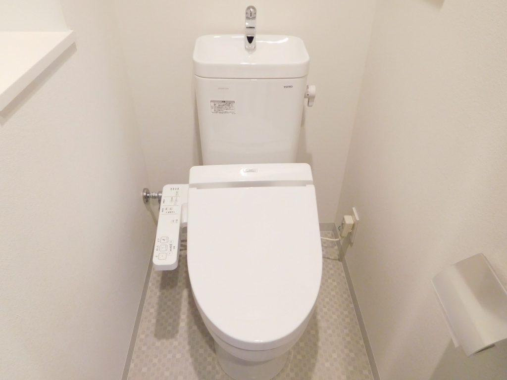 トイレにはニッチ棚もあります。