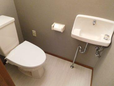 トイレは手洗い場は別口です☆