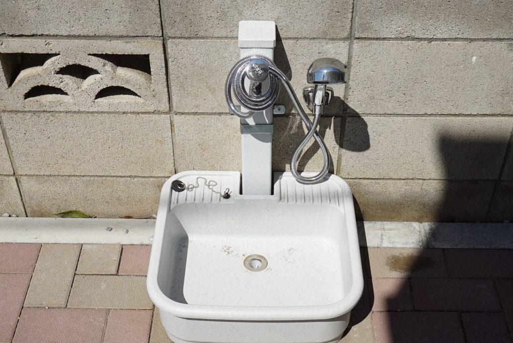 各住人に一つペット足洗い場が割り当てられています☆