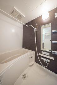 お風呂は脚を伸ばして入れる広さ。