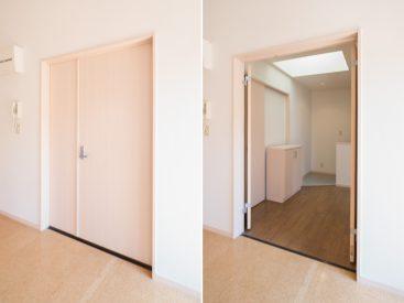 洋室の扉が大きく開く。開放感!