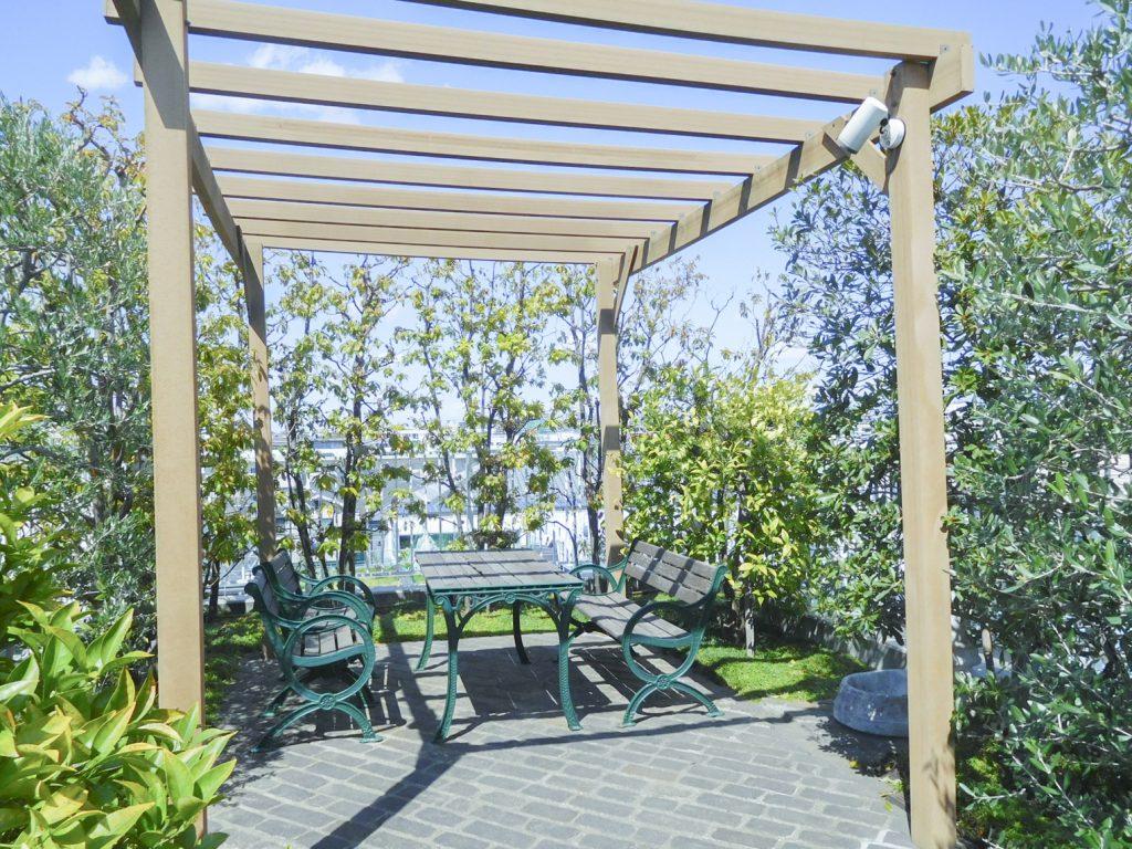 屋上庭園、きもちよい。。