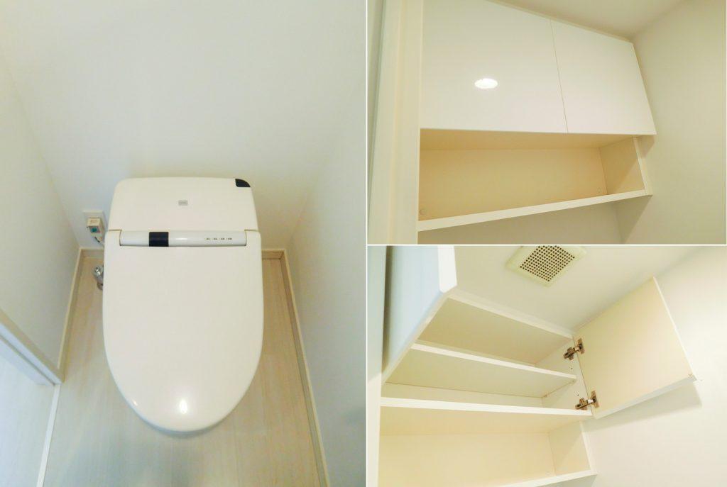 トイレ内も収納あります。