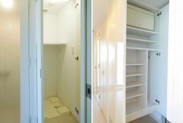 玄関からそのまま楽器室へ入れます、廊下に洗濯機おきばあります。