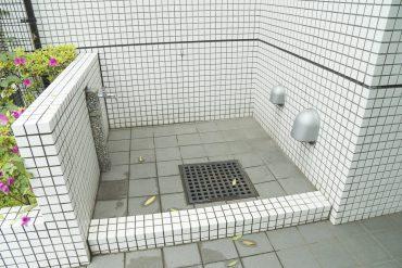 ペットの足洗い場。