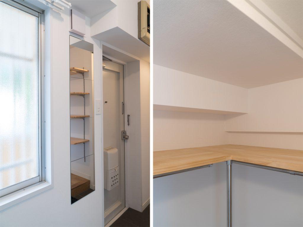 こちらも別部屋の写真ですが玄関とクローゼットのイメージ。
