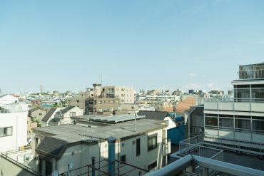 ほっとする、世田谷の眺望です。